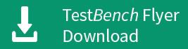 Startet den Download des TestBench Flyers.