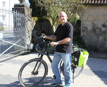 Thomas Roßner on the e-bike
